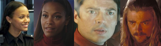 Star Trek faces 1: Zoe Saldana & Karl Urban