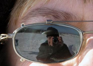 Reflected in Agneta's sunglasses