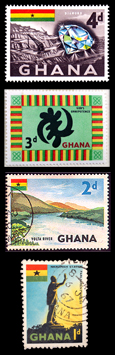 Ghanaian stamps from the early 1960s