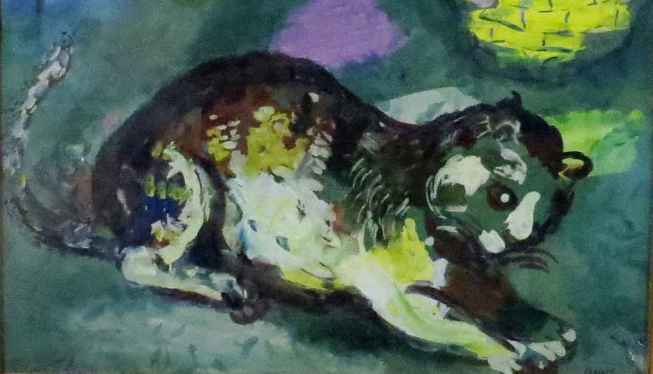 Chagall detail - cat