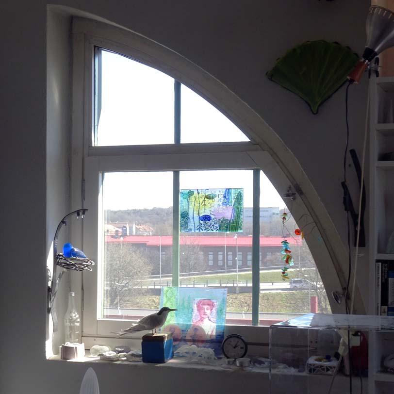 Anna Egger's studio curved window