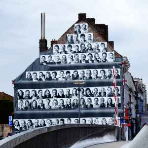 House gable with portraits - InsideOut project