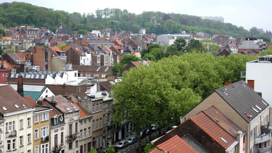 Incidents: View over Forest into Uccle from the roof of Wiels