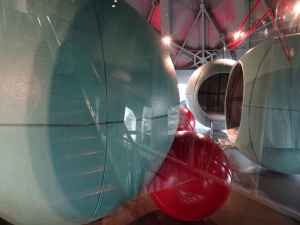 Atomium interior - kids' sleeping sphere
