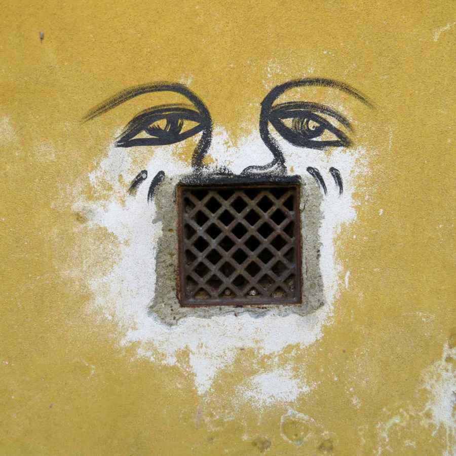 Graffiti Florence - Big mouth