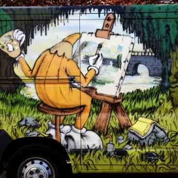 8 Graffitti on a van detail