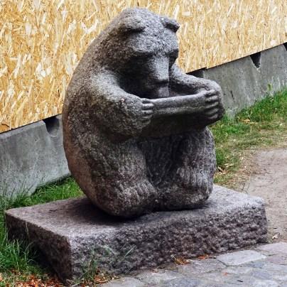 Bear sculpture in Fredrikshavn