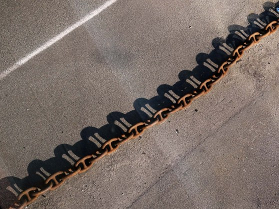 Chain and shadow at Fredrikshavn