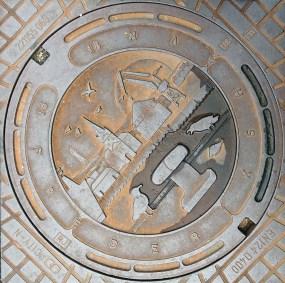 Manhole cover in Fredrikshavn