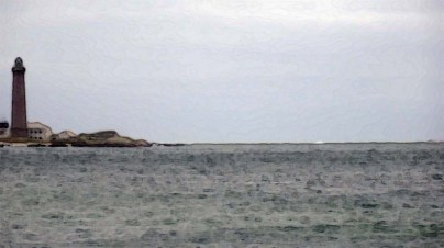 Skagen: Sönderstrand at Skagen looking north Monday 11 June disturbed water at Grenen art filters