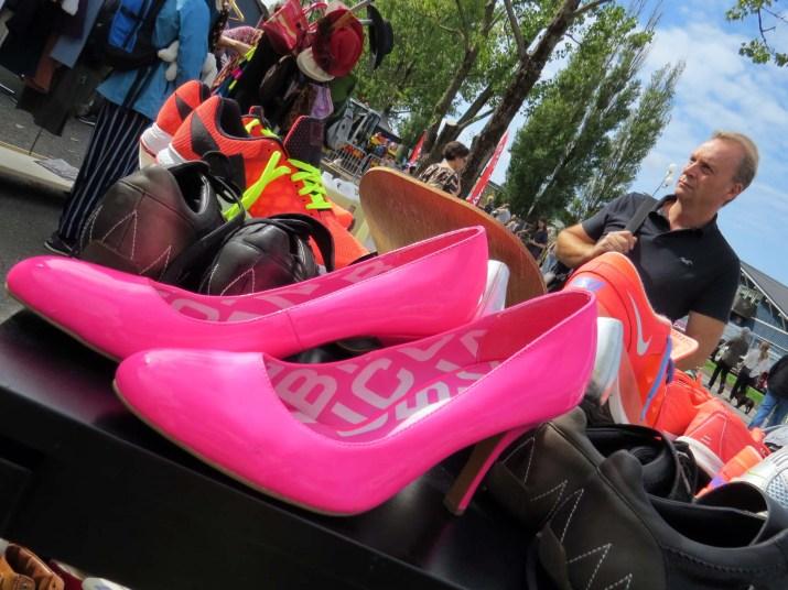 The pink heels