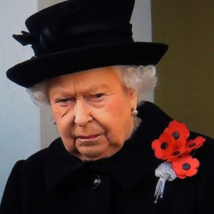 Flanders Fields: The Queen at the Cenotaph 2018 original photo from video still news footage