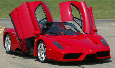 Ferrari Enzo doors open front view