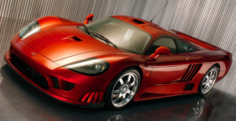 Saleen S7 Twin Turbo dark orange front view