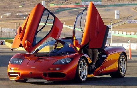 McLaren F1 Orange with doors open