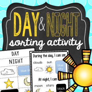 Day and Night Sorting Activity Freebie