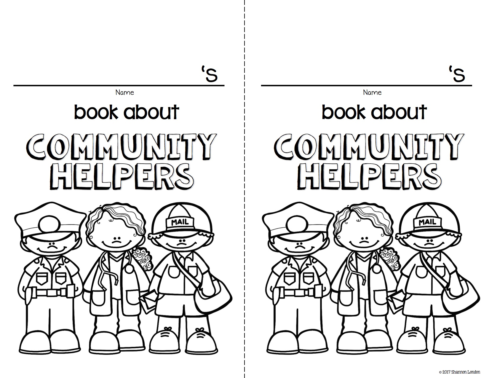 community helpers coloring pages | Community helpers, Community ... | 1275x1650