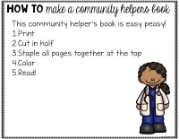 Community Helpers Read and Color Book