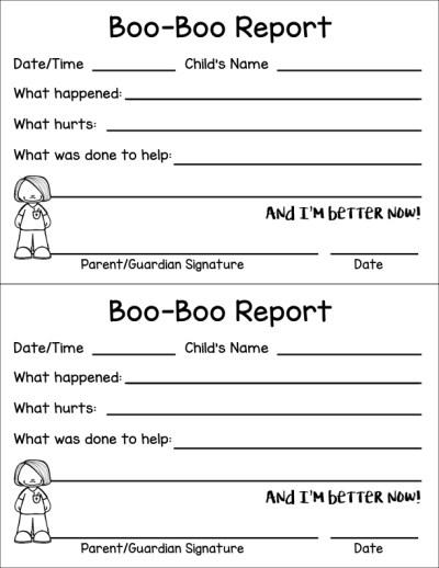 boo-boo report