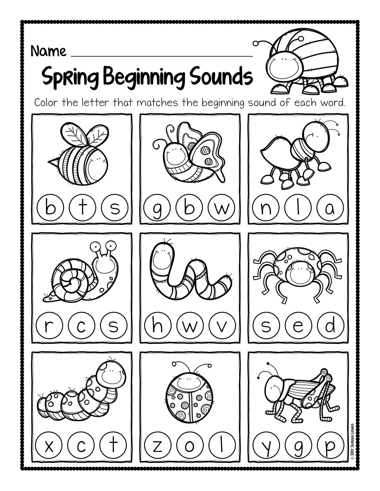 Spring Beginning Sound Worksheets 001 The Super Teacher