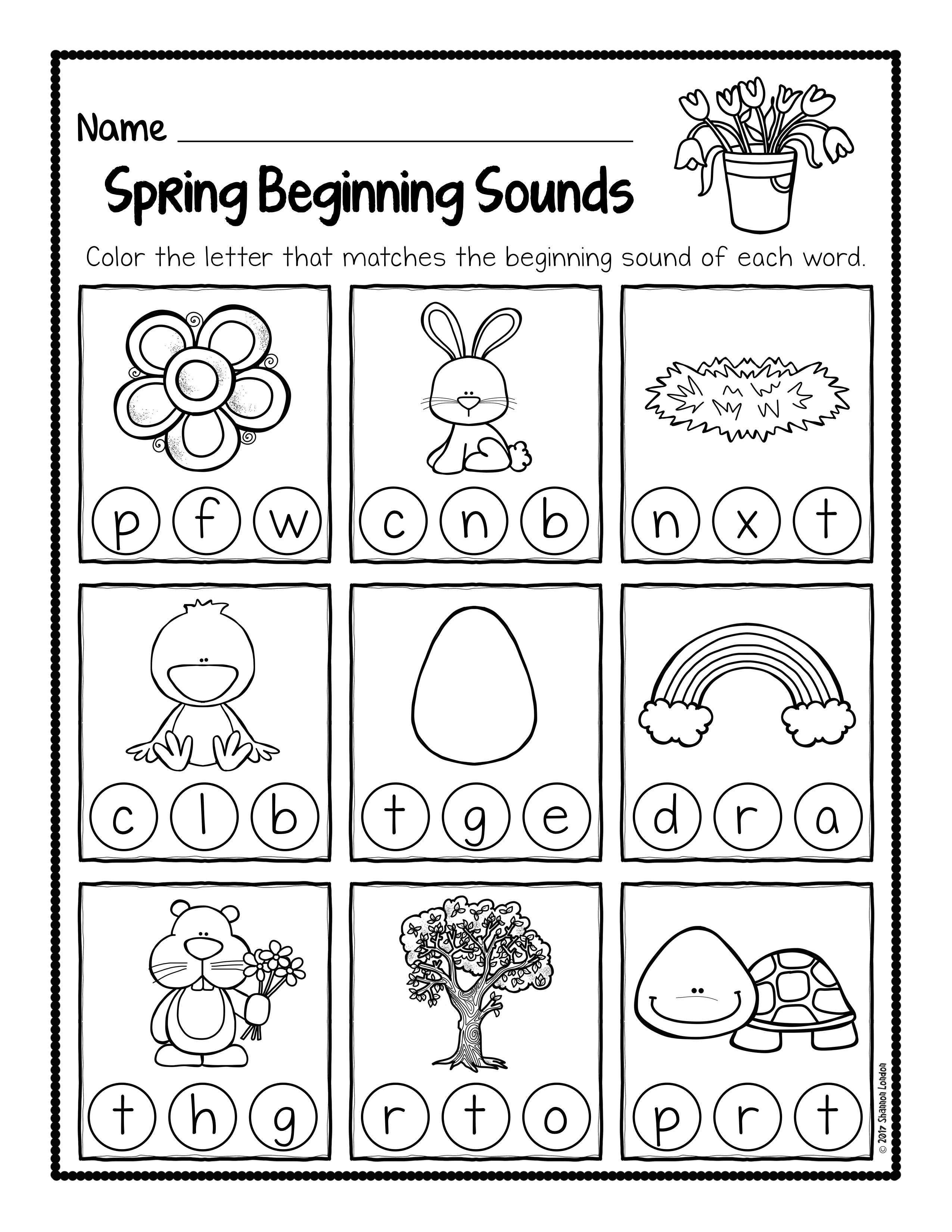 Spring Beginning Sound Worksheets 003 The Super Teacher