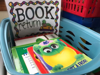 """Free """"Book Return Sign"""" For Your Daycare Preschool Library"""
