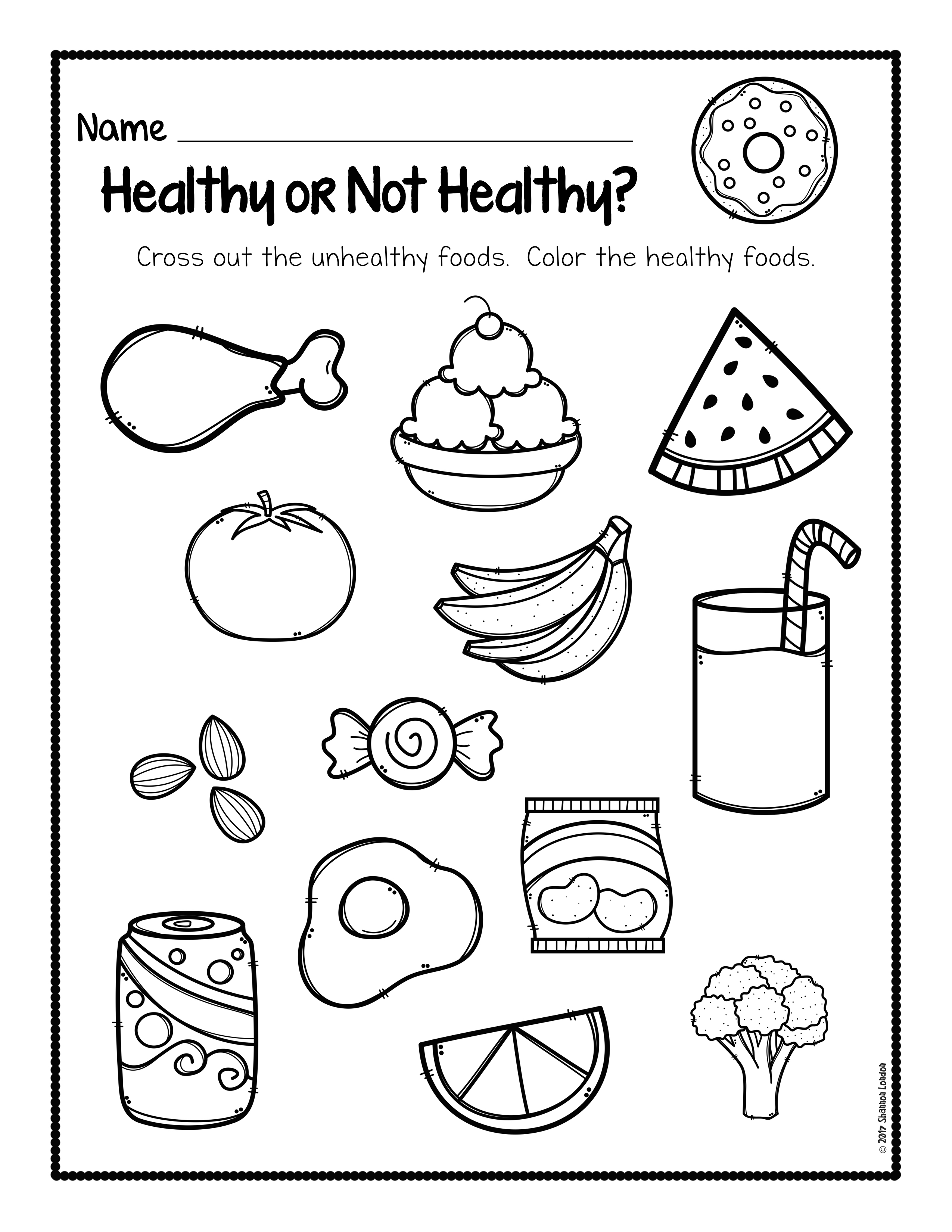 - Healthy Foods Worksheet [FREE DOWNLOAD] - The Super Teacher