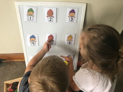 Number Sorting Activity with Trolls Number Cards
