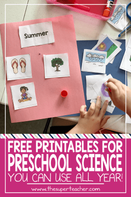 FREE Preschool Science Pages You Can Use All Year!