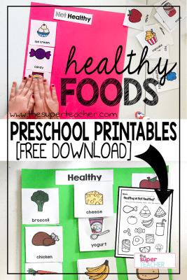 Healthy Foods Preschool Printables