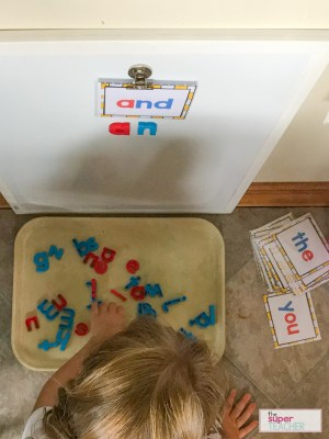 How to Make a Cheap and Easy Sight Word Center