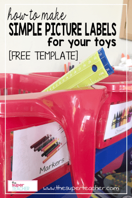 How to Make Simple Picture Labels for Your Toys [FREE TEMPLATE]