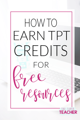 How to Earn TpT Credits for Free Resources