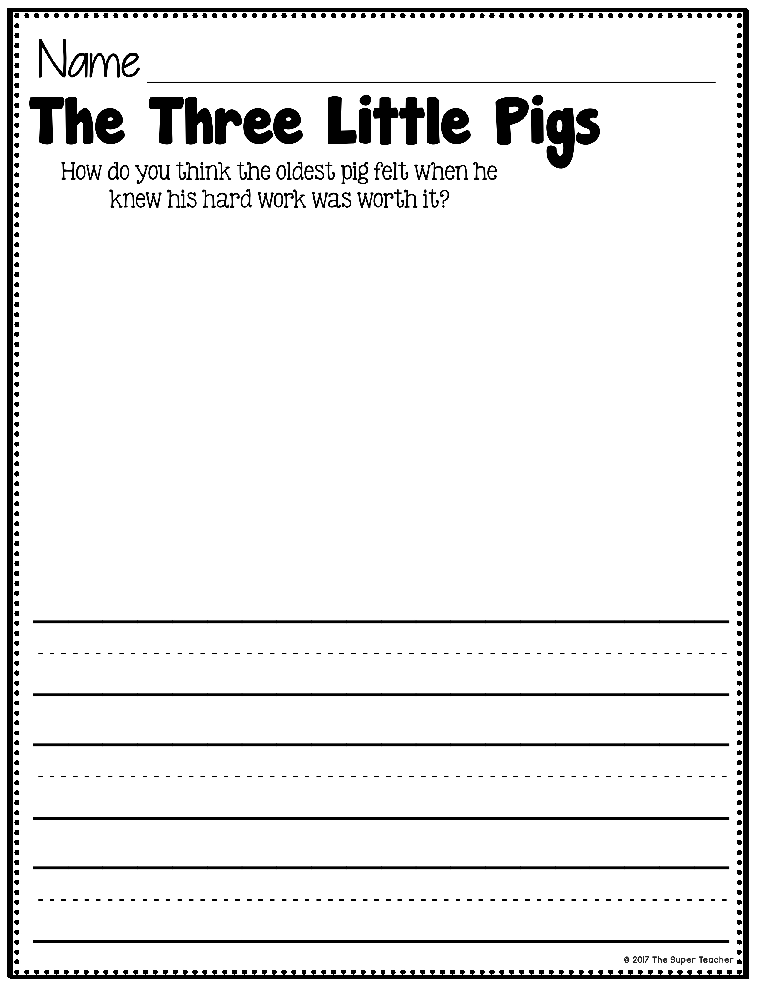 Worksheets Character And Setting Worksheets three little pigs story elements and retelling worksheets worksheets