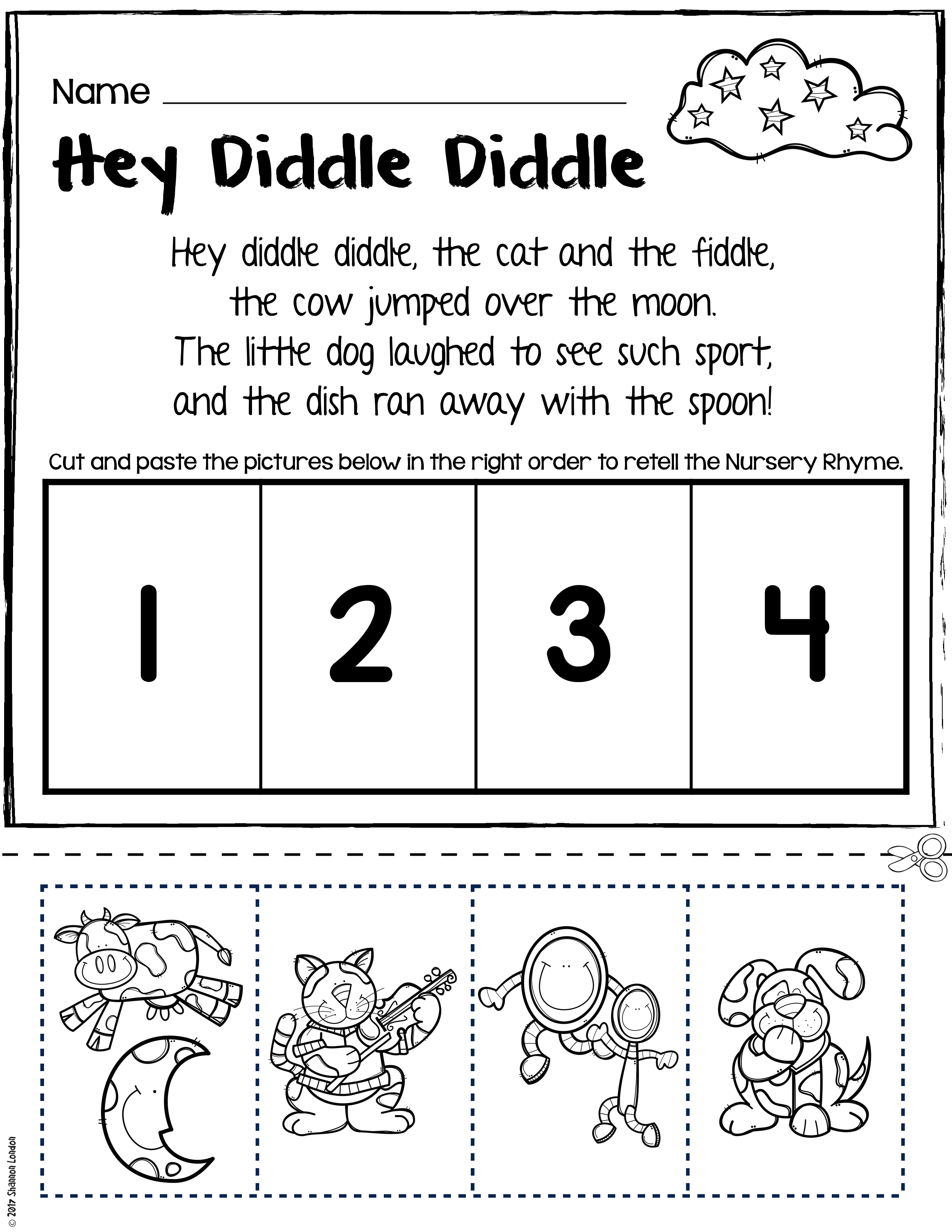 Read And Color The Words That Rhyme Kinderland Collaborative Free ...
