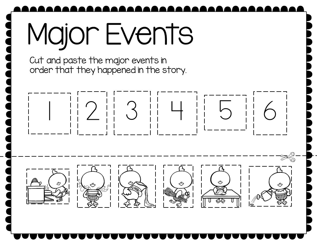 picture about The Little Red Hen Story Printable called The Small Pink Chook Worksheets