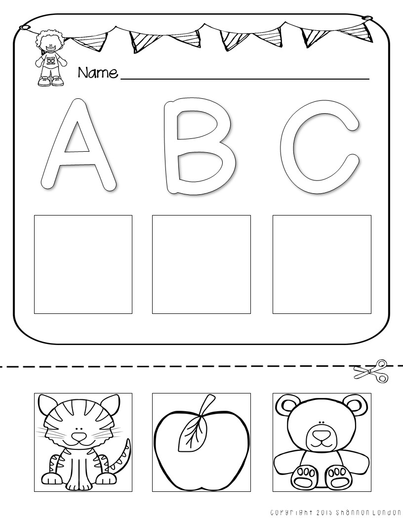 Letter Worksheets Cut And Paste Printables The Super Teacher