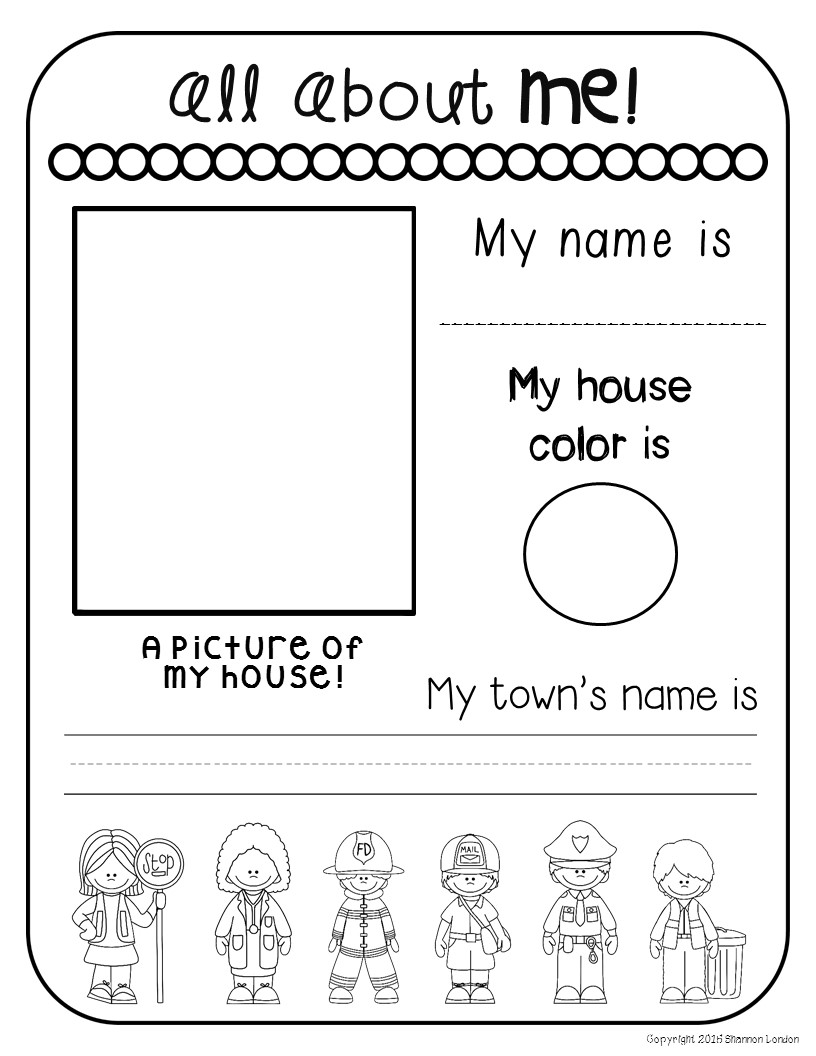 All About Me Worksheets The Super Teacher