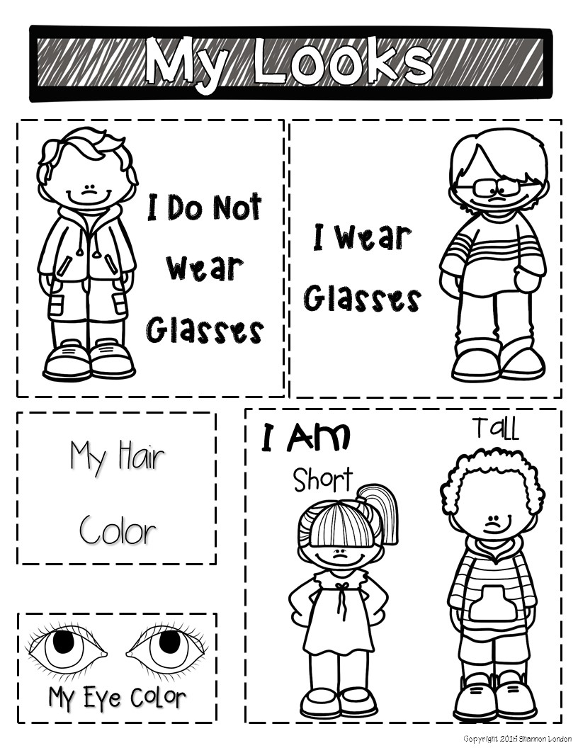 All About Me Interactive Notebook – No Prep!