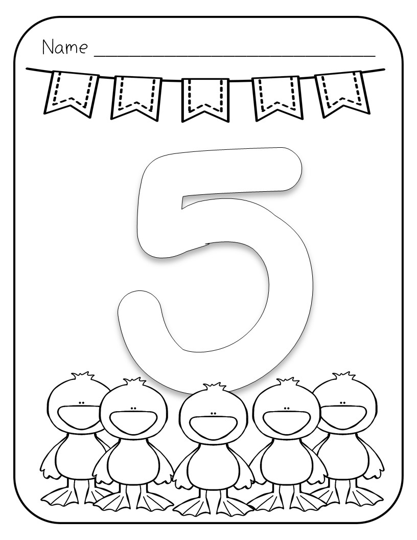 Number Coloring Pages - 1 to 10 Pages with Large Numbers and ...