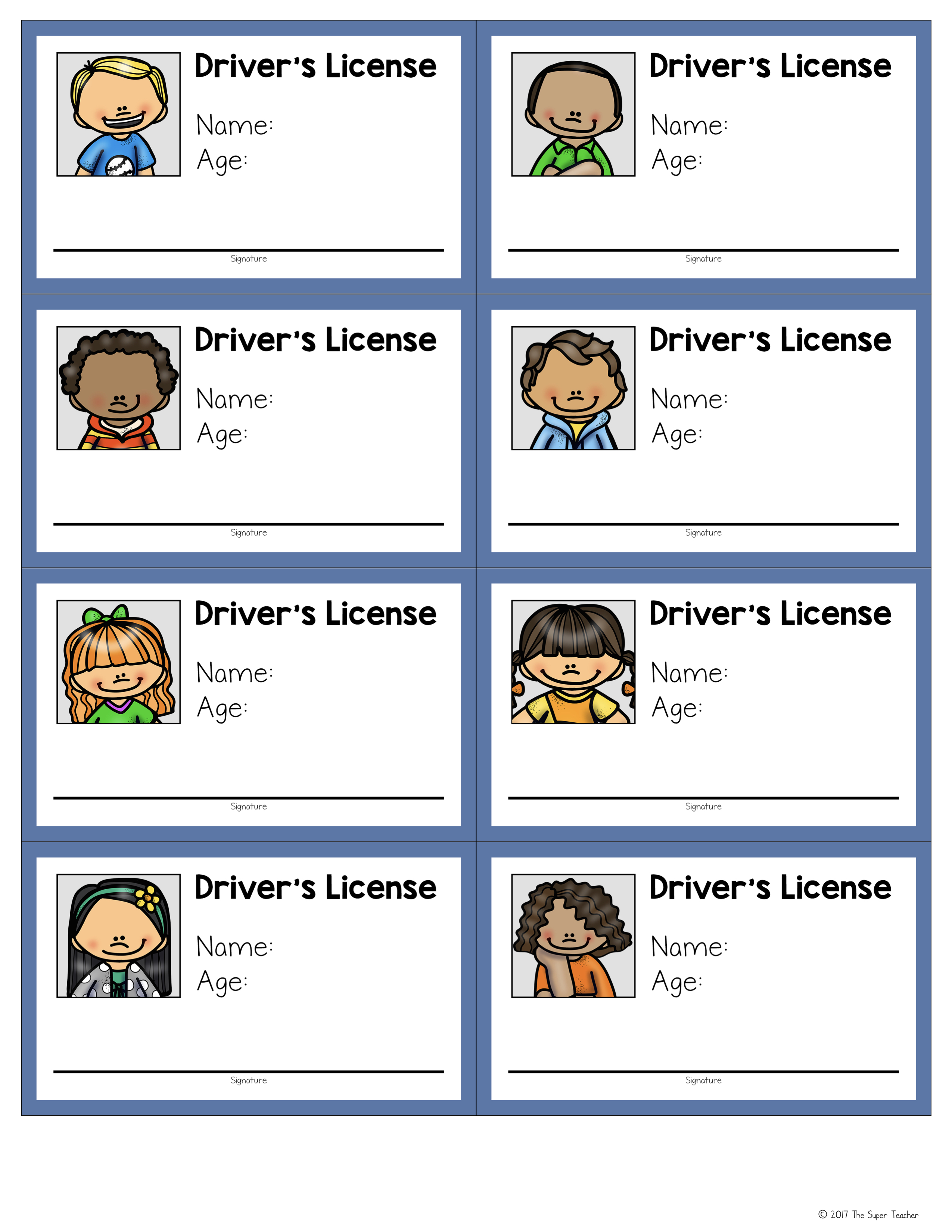 How To Make A Pretend Play Drivers License For A Transportation