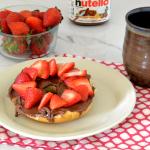 Strawberry Nutella Bagel
