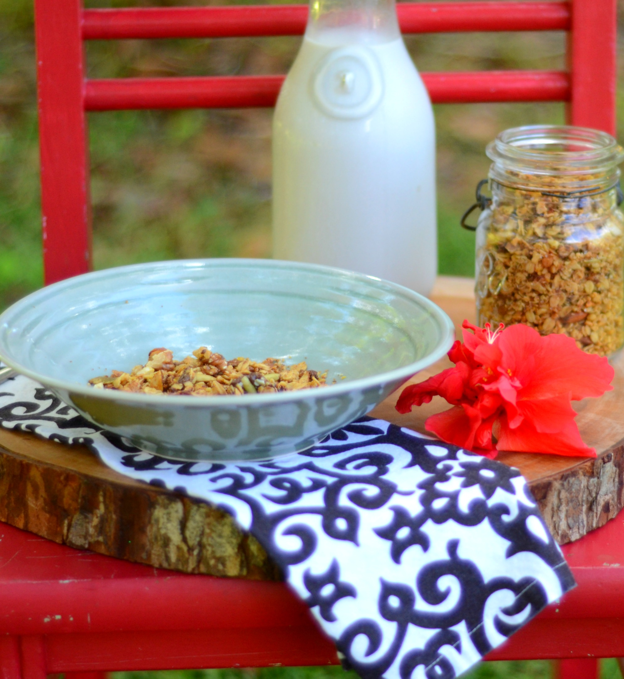 Cashew Butter and Chocolate Granola has to be one of our favorites. I make this at least once a week and it goes fast. | www.thesurferskitchen.com