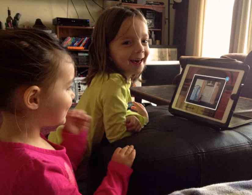 Phonics lesson on iPad
