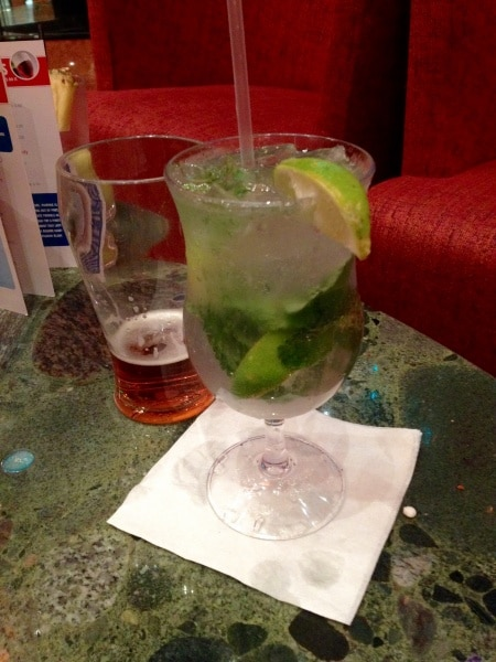 Cocktails aboard the Carnival Dream