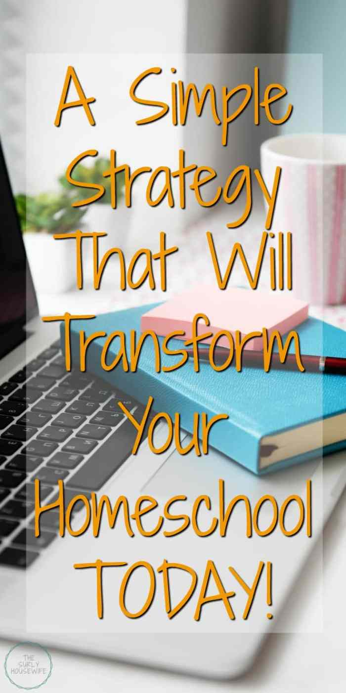 Looking for a way to make your homeschool life easier? Then look no further than this easy, no-prep, no cost idea to add to your homeschool strategy today!