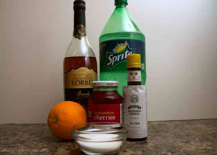 Brandy Old Fashioned ingredients
