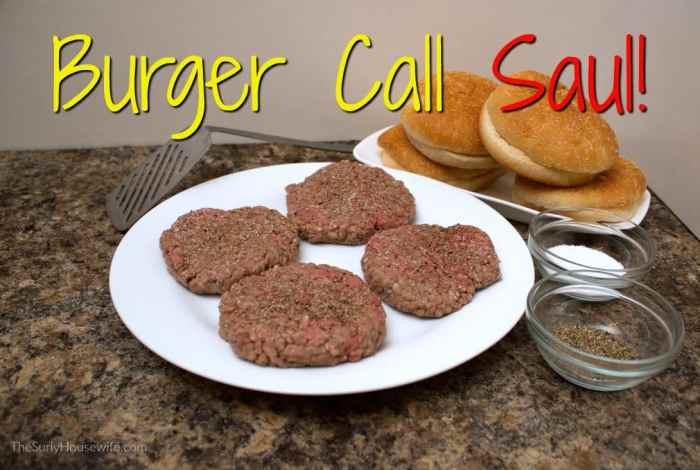 homemade burger ingredients