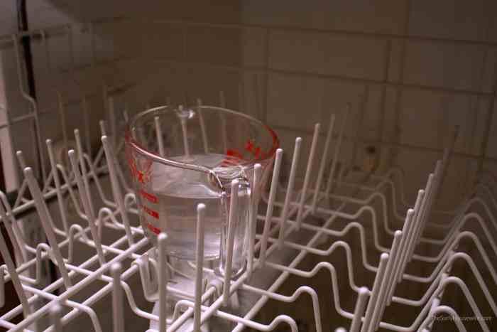 vinegar inside the dishwasher