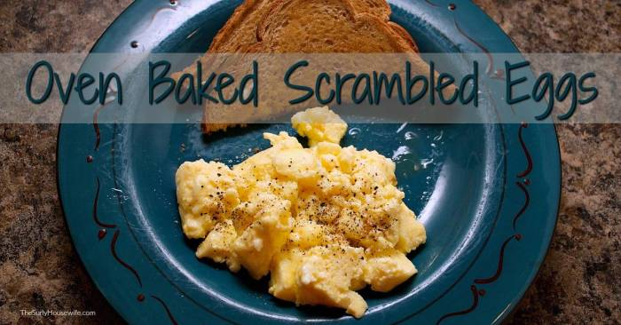 how to cook scrambled eggs in the oven